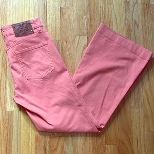 Tory Burch Coral colored size 26 waist flare jeans